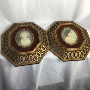 Vintage octagon cameo collection pictures